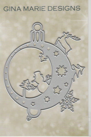 CHRISTMAS ORNAMENT SCENE DIE - GINA MARIE DESIGNS