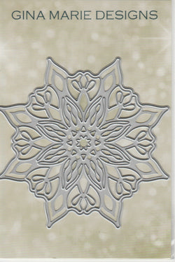 NOW IN - CUT INK & EMBOSS SNOWFLAKE DIE - GINA MARIE DESIGNS