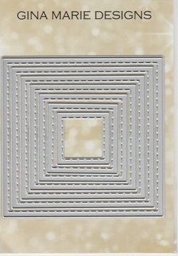 STITCHED SQUARE DIE SET - Gina Marie Designs
