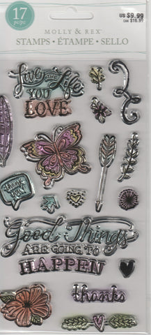 LIVE THE LIFE YOU LOVE - MOLLY & REX CLEAR STAMPS