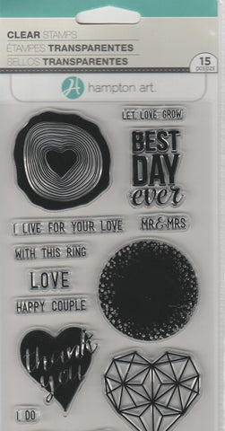 LET LOVE GROW - HAMPTON ARTS CLEAR STAMPS