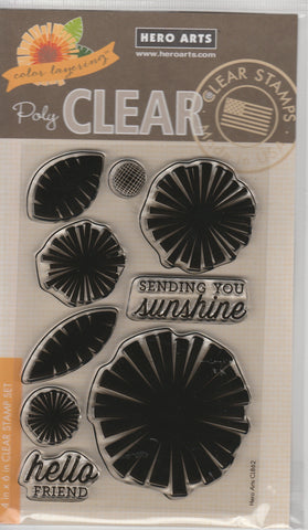 COLOR LAYERED GRAPHIC FLOWER - Hero Arts Clear Stamps