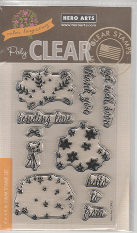 COLOR LAYERING BOUQUET - HERO ARTS CLEAR STAMPS