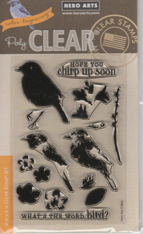 COLOR LAYERED BIRD & BRANCH - HERO ARTS CLEAR STAMPS