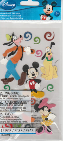 MICKEY AND FRIENDS - Jolee's Boutique Stickers