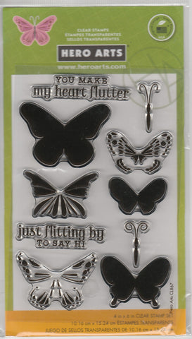 BUTTERFLY LAYERED - HERO ARTS CLEAR STAMPS