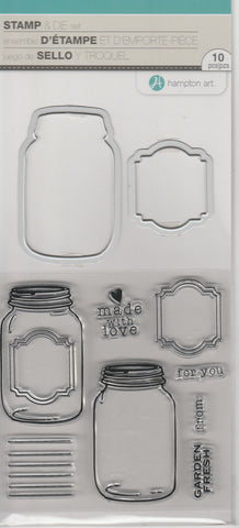 JARS - HAMPTON CLEAR STAMP AND DIE SET
