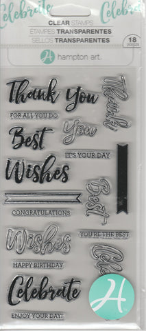 THANK YOU & BEST WISHES - HAMPTON ARTS CLEAR STAMPS