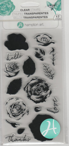 LAYERING ROSES - HAMPTON ARTS CLEAR STAMPS