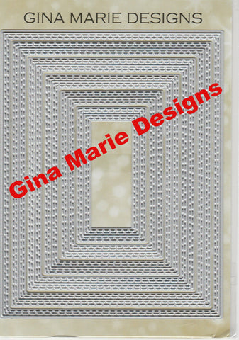 Limited Edition - DOUBLE STITCHED IN AND OUT CUT RECTANGLE DIE SET - Gina Marie Designs