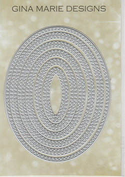 Limited Edition - DOUBLE STITCHED IN AND OUT CUT OVAL DIE SET - Gina Marie Designs