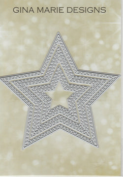 Limited Edition - DOUBLE STITCHED IN AND OUT CUT STAR DIE SET - Gina Marie Designs