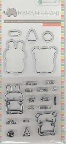 DITTO - MAMA ELEPHANT STAMPS AND DIE SET