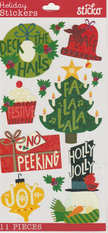 HOLIDAY WORDS - Sticko Stickers