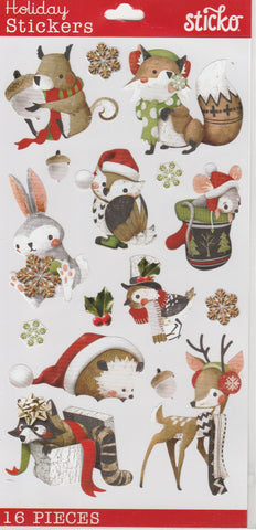 HOLIDAY ANIMALS - Sticko Stickers