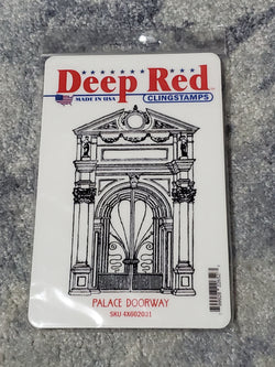 PALACE DOORWAY - DEEP RED RUBBER STAMPS