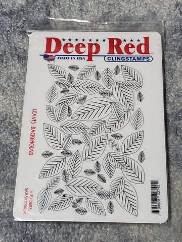 LEAVES BACKGROUND - DEEP RED XL STAMP SET
