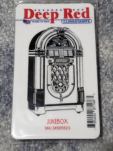 JUKEBOX - DEEP RED RUBBER STAMPS