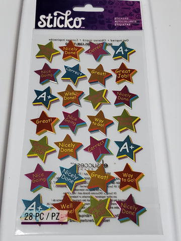 STAR REWARDS - STICKO FLAT STYLE STICKERS