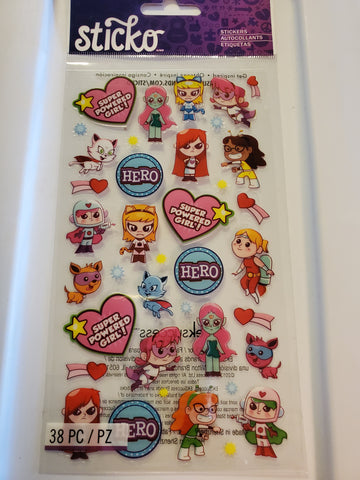 POWER GIRLS - STICKO STICKERS