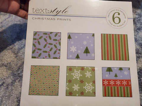 HOLLY JOLLY HOLIDAY TREE PEACE BE STILL PRINTS 8X8 PAPER PACK 36 TOTAL SHEETS