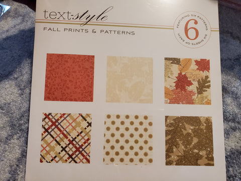 LEAF PRINTS 8X8 PAPER PACK 36 TOTAL SHEETS