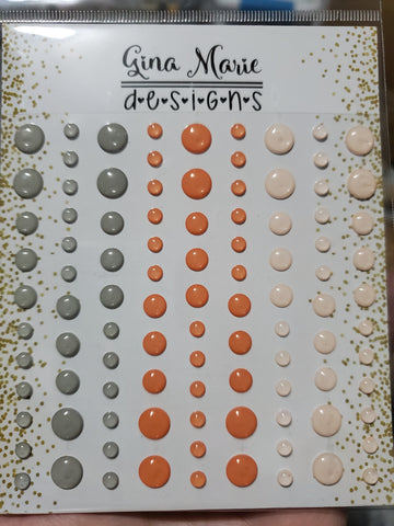 FUZZY PEACH CLEAR WITH COLOR STYLE ENAMEL DOTS - Gina Marie Designs