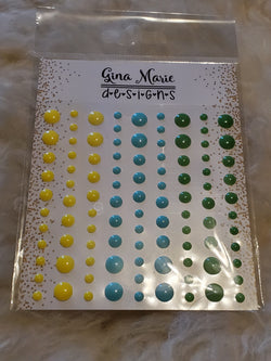 LEMON SQUEEZE GLOSS STYLE ENAMEL DOTS - Gina Marie Designs