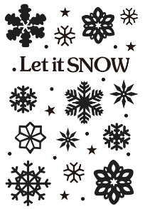 LET IT SNOW EMBOSSING FOLDER - Gina Marie Designs