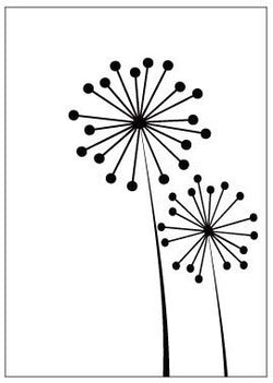 WHIMSICAL DANDELION - 4X6 GINA MARIE EMBOSSING FOLDER