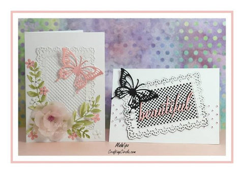 LACEY LATTICE RECTANGLE DIE SET - Gina Marie Designs