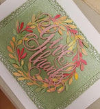 GIVE THANKS WORD DIE - Gina Marie Designs