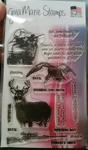 HUNTING - GINA MARIE PHOTO POLYMER STAMPS