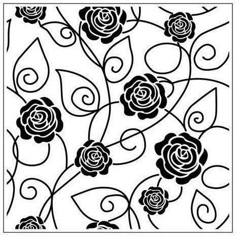 ROSE VINE EMBOSSING FOLDER - Gina Marie Designs