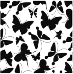 BUTTERFLY BKGD EMBOSSING FOLDER - Gina Marie Designs