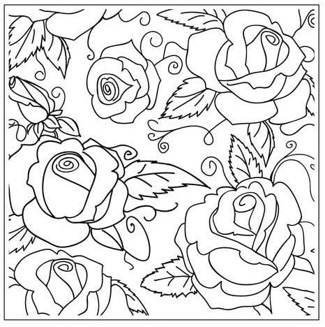 ROSE GARDEN EMBOSSING FOLDER - Gina Marie Designs