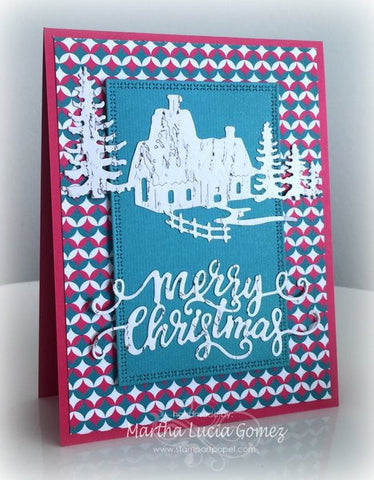 WINTER HOUSE SCENE DIE - Gina Marie Designs