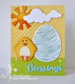 ARTISTIC EASTER EGG DIE SET - Gina Marie Designs