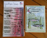 FISHING STAMPS - GINA MARIE DESIGNS