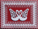 MINI HEART LACE RECTANGLES DIE SET - Gina Marie Designs