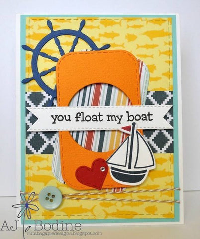 AHOY AND SHIP WHEEL DIES - Gina Marie Designs
