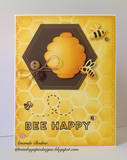 BEE AND HIVE DIE SET - Gina Marie Designs