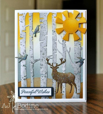 BIRCH TREE BKGD DIE - Gina Marie Designs