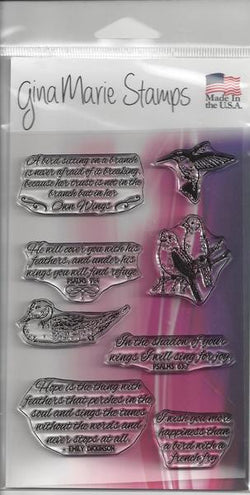 BIRD AND QUOTES - GINA MARIE PHOTO POLYMER STAMPS