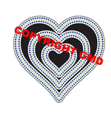 IN AND OUT CUT STUD DOT HEART DIE SET - Gina Marie Designs