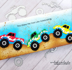 MONSTER TRUCK DIE SET - Gina Marie Designs
