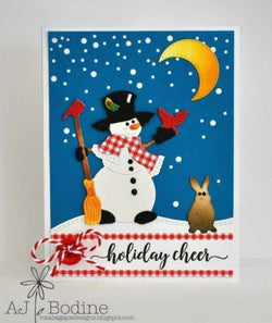 FALLING SNOW BKGD PLATE DIE - Gina Marie Designs