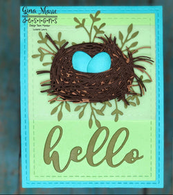 BIRD NEST DIE SET - GINA MARIE DESIGNS