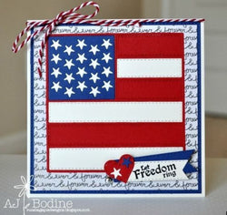 FLAG QUILT DIE 4X4 (BACK FROM RETIREMENT) - GINA MARIE DESIGNS