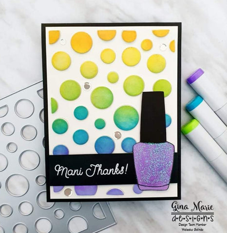 POLKA DOT BACKGROUND PLATE DIE - GINA MARIE DESIGNS